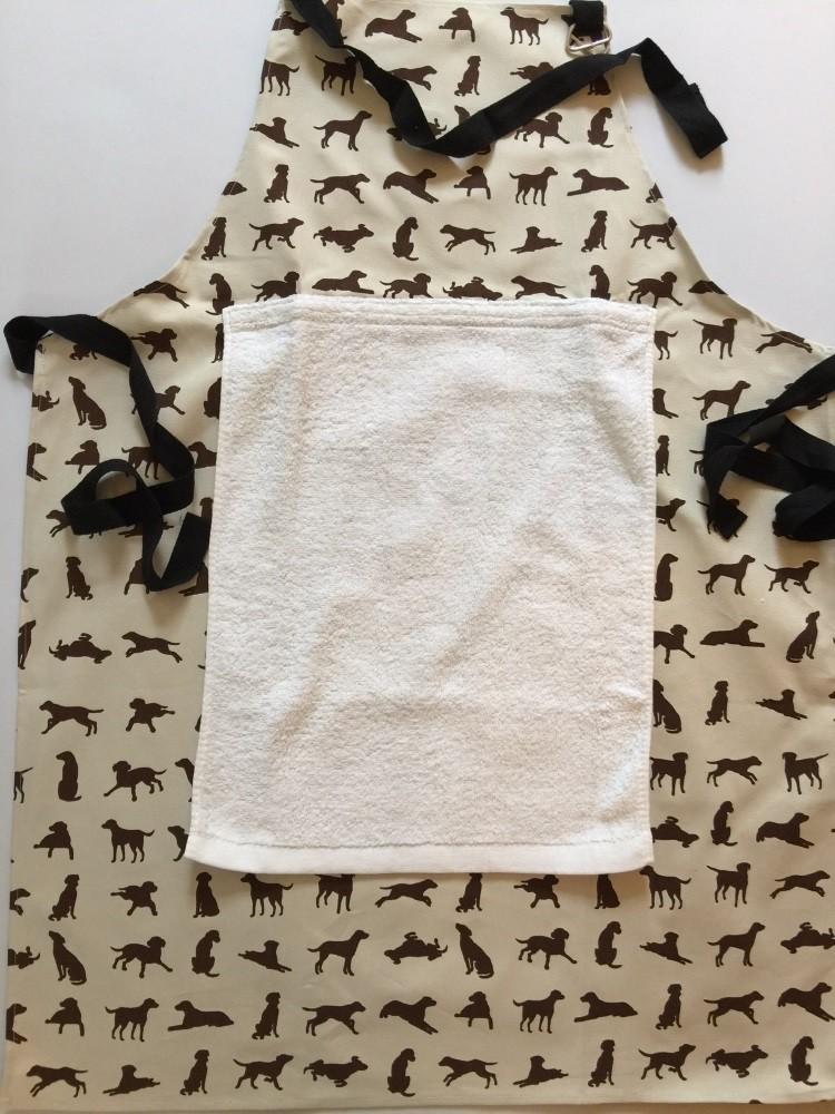 Detachable towel, uses velcro