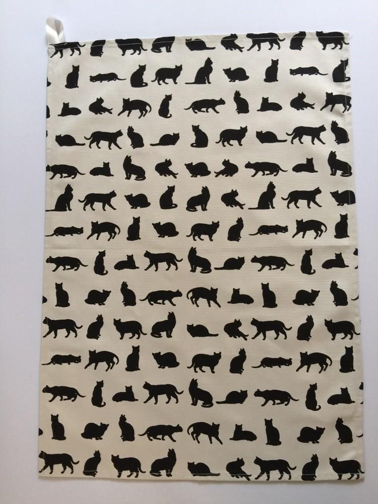 Cat design Tea Towel
