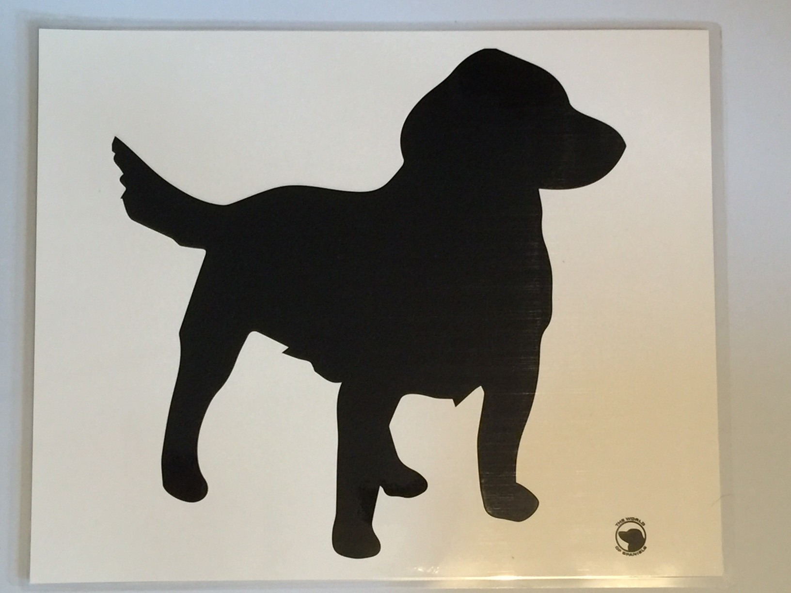 Laminated food bowl mat - spaniel design