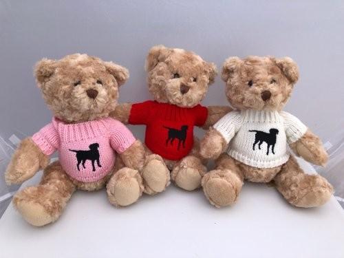 Teddy with labrador logo