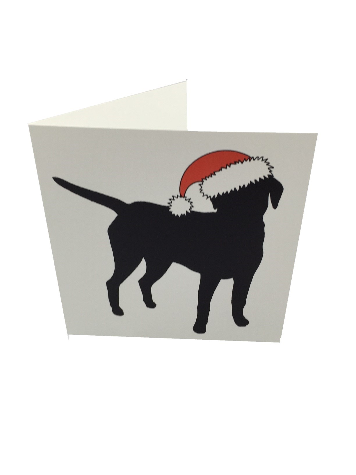10*Blank Christmas Cards - 2 labrador designs - Black Labrador
