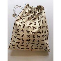 Large Bag - Chocolate Labrador design