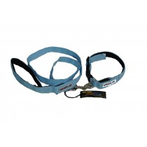 Flashing Dog Collar (M-XL) and Lead Set - Blue