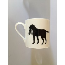 Extra Large China Mug - Black Labrador