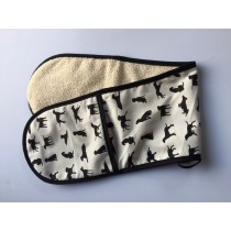 Black lab oven glove