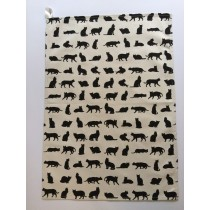 Cat design Tea Towel