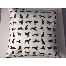 Black labrador design cushion