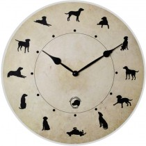Black Labrador World Clock