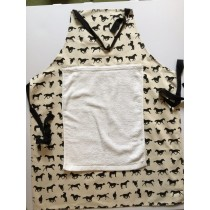 Horse design apron - removable towel
