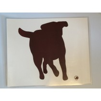 Laminated food bowl mat - chocolate labrador