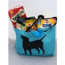 Long lasting, hard wearing shopping bag with single labrador design. WITH BOTH SHOULDER AND HAND STRAPS!!!!!