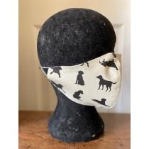 Black Labrador face mask