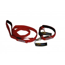Flashing Dog Collar (XS-XXL) and Lead Set - Red