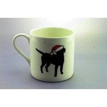 Extra large mug - labrador in santa hat