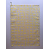 Yellow Labrador design Tea Towel