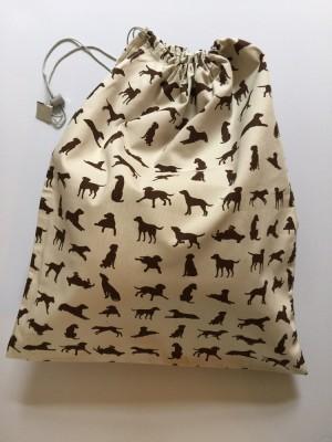 Large Bag - Chocolate Labrador design