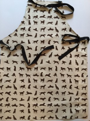 Chocolate Labrador design Apron