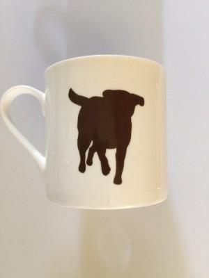 Extra Large China Mug - Chocolate Labrador