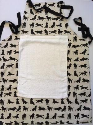 Spaniel Apron, with detachable towel